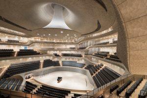 Innenaufnahme des Konzertsaals der Elbphilharmonie