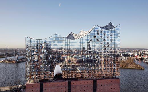 Außenansicht der Elbphilharmonie