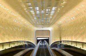 Die Rolltreppe in der Elbphilharmonie