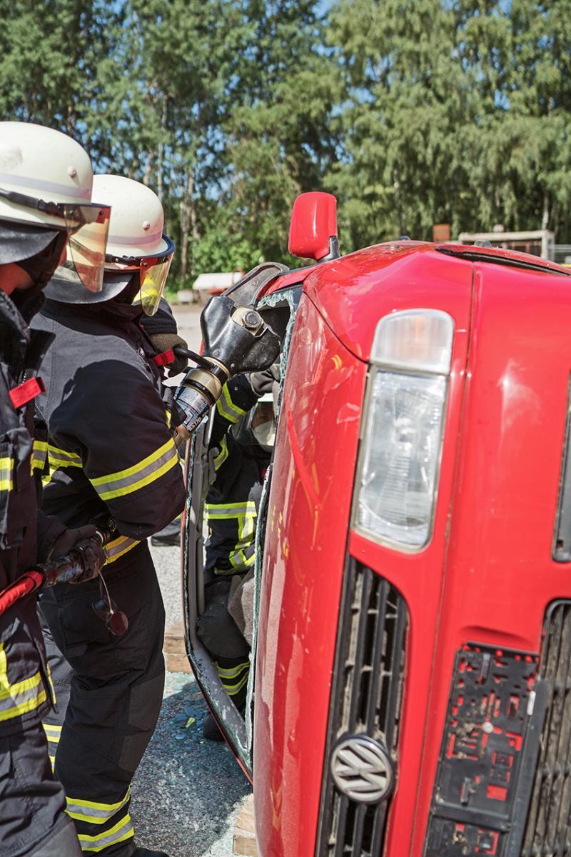 Feuerwehrakademie Hamburg - Bergung aus Fahrzeug