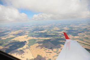 Auf dem Weg in die Wolken über Mecklenburg-Vorpommern